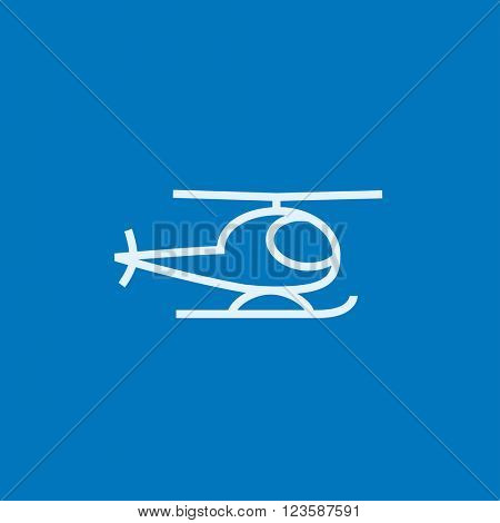 Helicopter line icon.