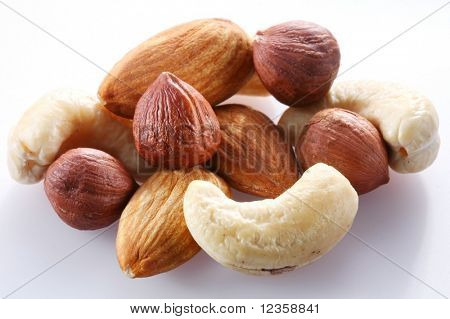 Nuts; Objects on white background
