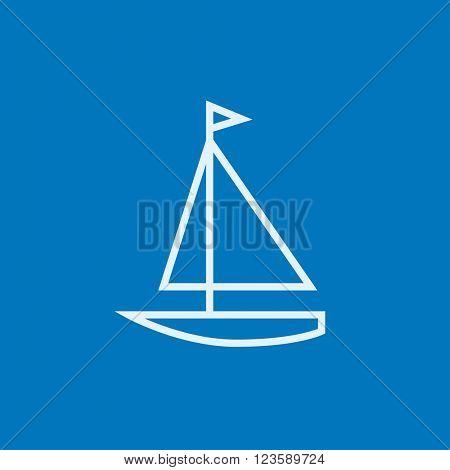 Sailboat line icon.