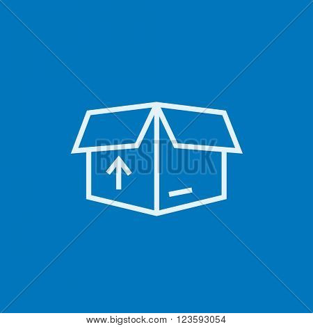 Carton package box line icon.