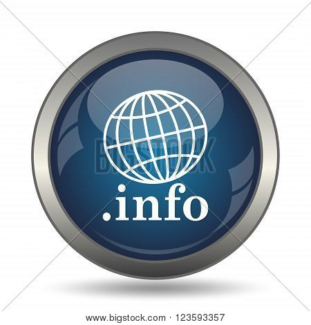 .info icon. Internet button on white background.