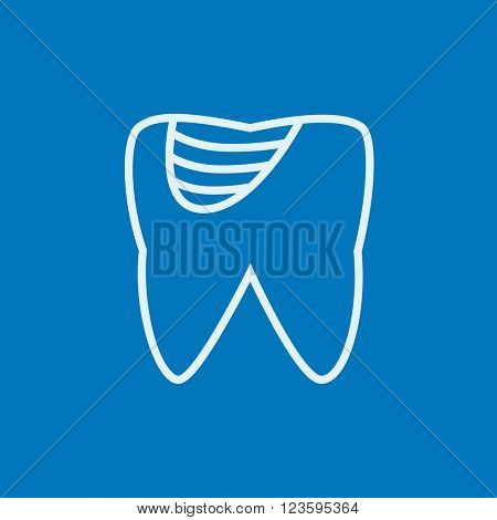 Tooth decay line icon.