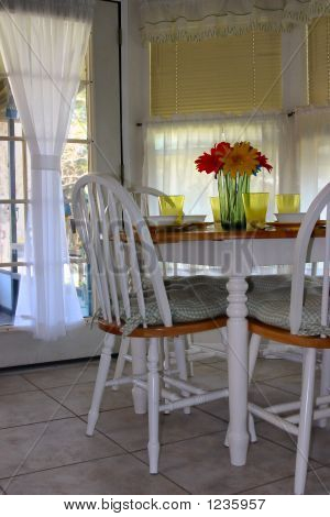 Table With French Door