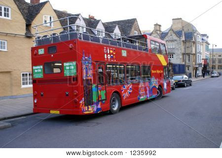 Tour Bus In Street In London