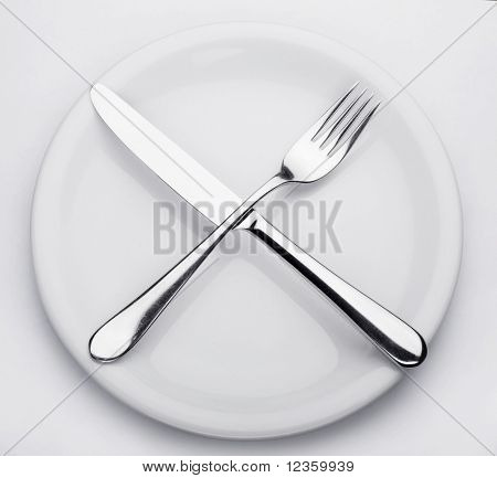 flatware on a white background
