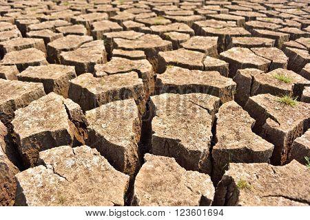 Cracked and barren ground , soil, drought, desert