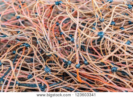 picture of a full frame entangled twine background