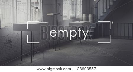 Empty Desolate Room Studio Interior Concept