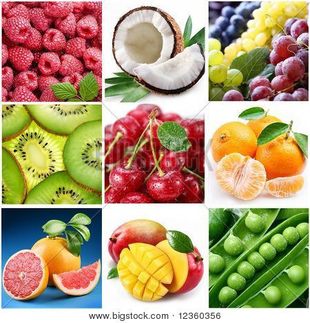 "collection of images on the theme of ""fruits"""