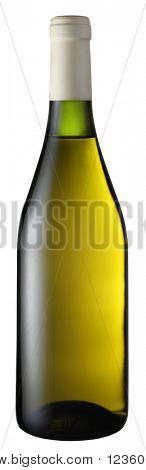 White wine bottle isolated on a white