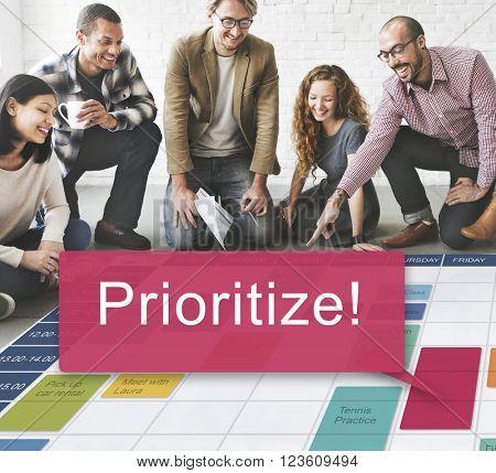 Prioritize Effectively Focus Order Rank Tasks Urgent Concept