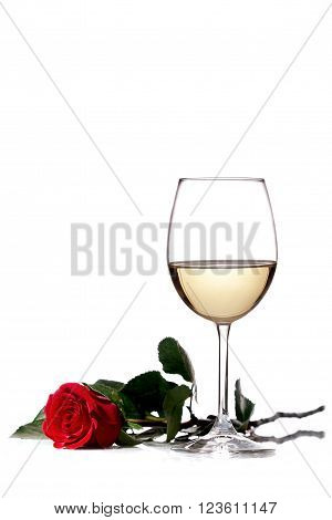 White Wine And Red Rose