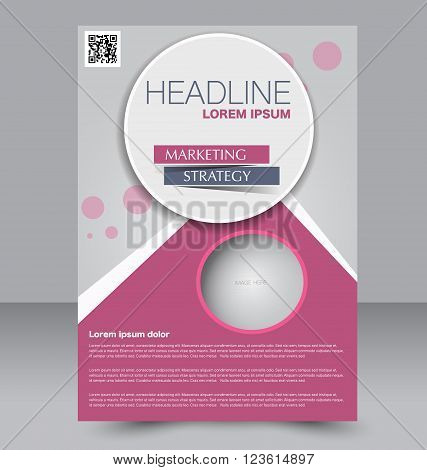 Abstract flyer design background. Brochure template. Can be used for magazine cover business mockup education presentation report. Pink color.