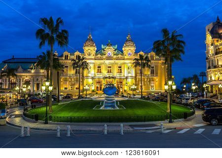 The Monte Carlo Casino, gambling and entertainment complex in Monte Carlo, Monaco, Cote de Azul, Europe.