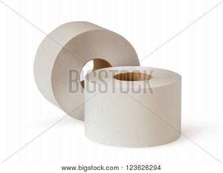 Two White Toilet Paper Rolls