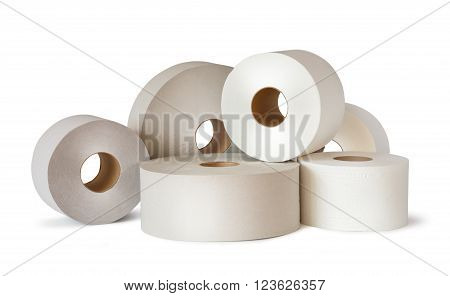 Many White Toilet Paper Rolls