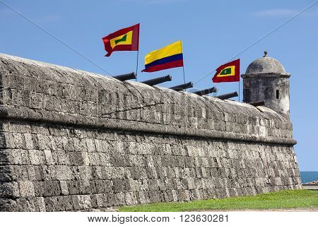 Santo Domingo Bulwark in Cartagena de Indias