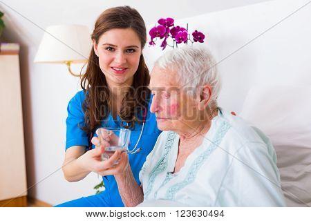 Kind Caregiver Helping