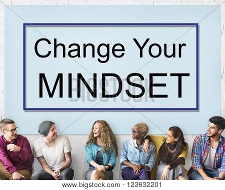 Change Your Mindset Attitude Focus Optimistic Concept