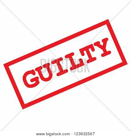 vector format guilty sign isolated on white