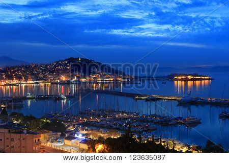 Dusk or Twilight in Kusadasi on the Agean Sea in Turkey