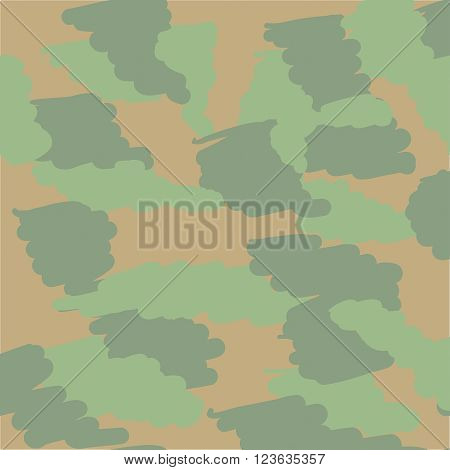 camouflage seamless pattern with hand painted spots