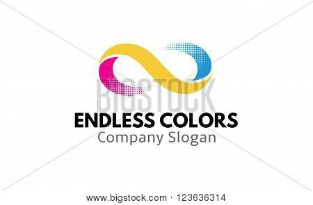 endless colors symbol art abstract design illustration