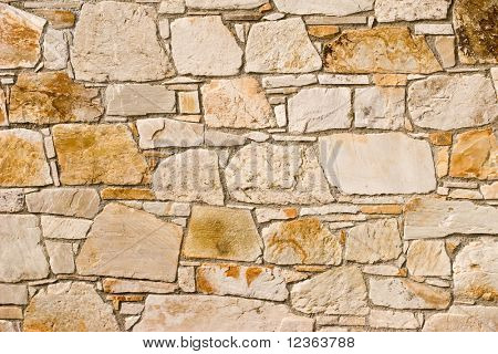 Stone tile wall pattern background