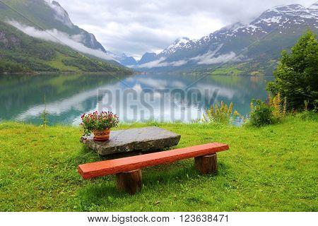 Serene Landscape In Norway