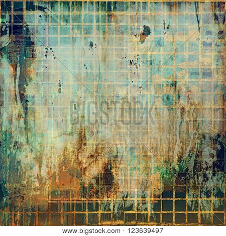 Vintage elegant background, creased grunge backdrop with aged texture and different color patterns: yellow (beige); brown; green; blue; gray
