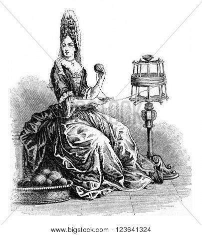 Atropos, vintage engraved illustration. Magasin Pittoresque 1853.