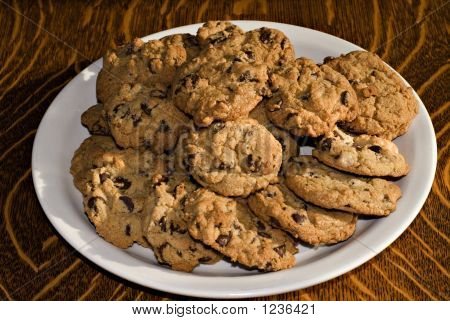 Chocolate Chips On A Plate