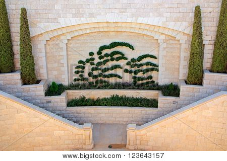 Bahai gardens, also known as the Hanging Gardens of Haifa, Israel