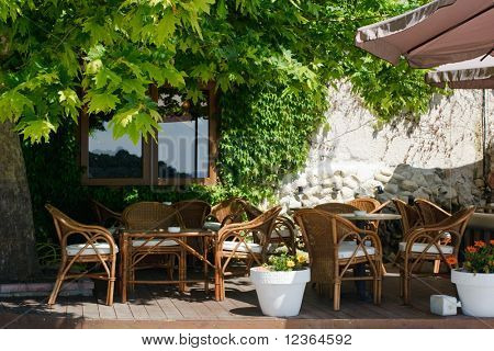 Chilling out cafe terrace at Greece