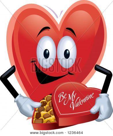 Heart Man With Chocolates