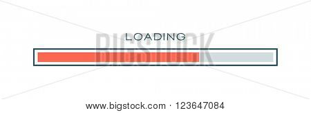 Vector progress loading bar symbol template.