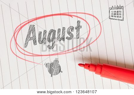 August Memory Notice On Paper