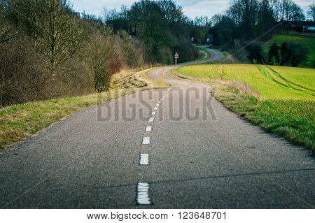 Curvy Road In The Countryside