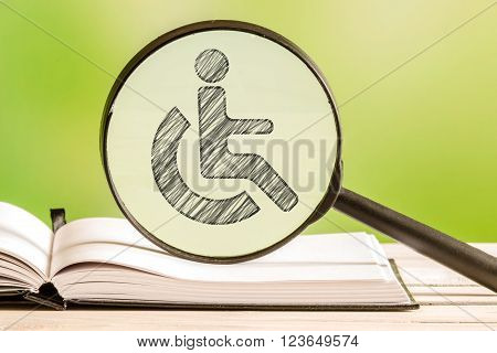 Handicapped Info With A Pencil Drawing