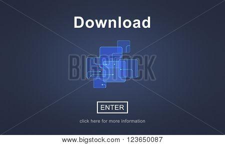 Download Downloading Online Website Technology Concept