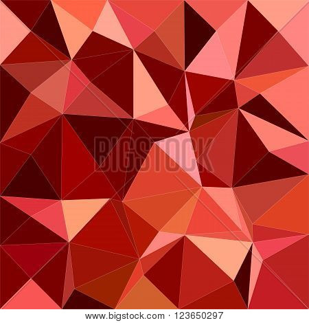 Dark red irregular triangle mosaic vector background design