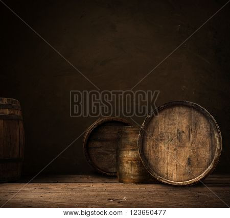 background of barrel keg, worn, storage, vintage