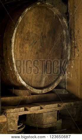 background of barrel keg, worn, storage, vintage