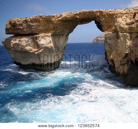 The Azure Window rock, Gozo Island, Malta