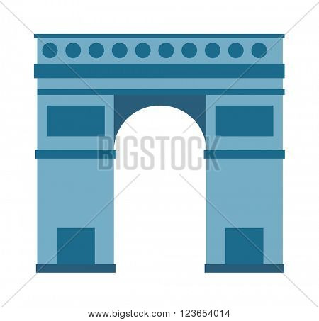Arc de Triomphe Paris France architecture europe travel monument vector.