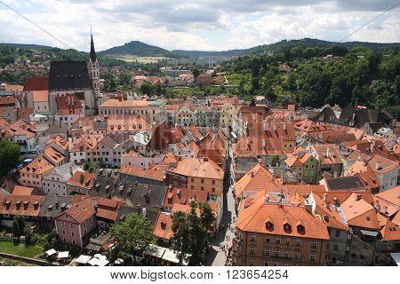 Panoramic view of Cesky Krumlov Czech republic