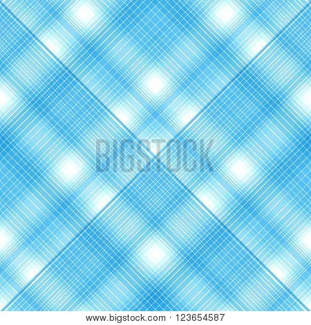 Seamless Cross Blue Colors, Checkered Diagonal Pattern. Vector Eps 10.