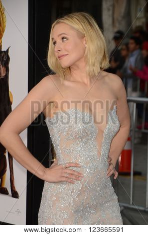 LOS ANGELES - MAR 28:  Kristen Bell at the The Boss World Premeire at the Village Theater on March 28, 2016 in Westwood, CA