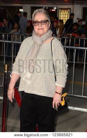 LOS ANGELES - MAR 28:  Kathy Bates at the The Boss World Premeire at the Village Theater on March 28, 2016 in Westwood, CA