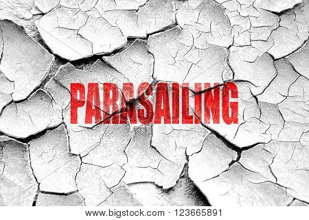 Grunge cracked parasailing sign background with some soft smooth lines